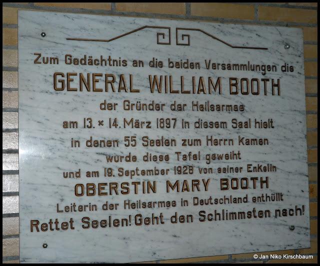 Fotografie der Tafel mit freundlicher Erlaubnis des Korps Wuppertal der Heilsarmee.